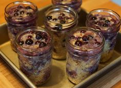 Let It Simmer: Simple Joys from Table to Life: Oven Baked Blueberry Oatmeal in Jelly Jars