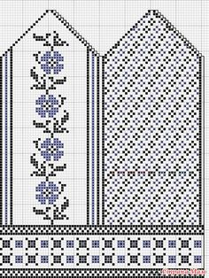 Beautiful knitted mittens pattern