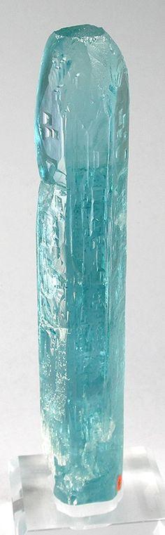 Aquamarine (floater gem crystal) - Medina Mine, Minas Gerais, Brazil