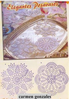 three crochet doily/motifs to make