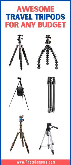 Awesome travel tripods for any budget! A sturdy tripod will improve the quality of your photos! If you travel or hike, it's important to find a lightweight tripod that's compact AND sturdy. This guide will help you find the best lightweight travel tripod to suit your travel and photography style and budget. #travelphotography #tripod #traveltripod #photojeepers Take Video, Photography Gear, Travel Videos, Travel Packing, Photo Tips, Taking Pictures, Tripod, Trip Planning, Family Travel