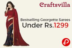 Craftsvilla brings #Bestselling #Georgette #Sarees Price Under Rs.1299.   http://www.paisebachaoindia.com/bestselling-georgette-sarees-price-under-rs-1299-craftsvilla/