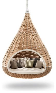 swing chair, with a hammock feel, my two fav. outdoor furniture pieces rol led int one fantastic product.