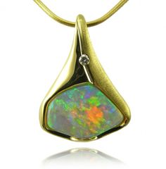 Solid Crystal Opal Pendant | Opals Down Under