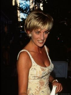 June 23, 1997: Diana, Princess of Wales at a private viewing of her dresses to be auctioned at the famous auction house Christie's in New York. New York, USA.