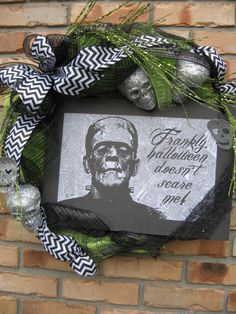 Alysha! FRANLKY NOT SCARED wreath w/ large white and by faucettandflame, $44.99