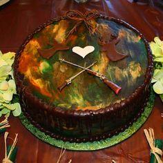 Wedding Shower Camo Cake