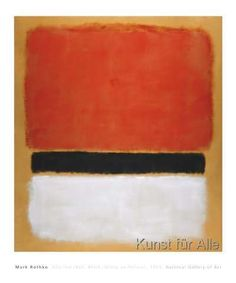 Mark Rothko - Untitled (Red, Black, White on Yellow), 1955