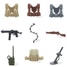 A small selection of new BrickWarriors minifigure military parts - http://www.firestartoys.com