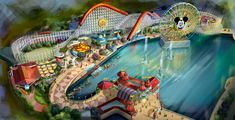 A new Disney video with details about the Incredicoaster coming to Pixar Pier at Disney California Adventure Theme Park at Disneyland! I can't wait to see the rest of this land transformed into Pixar Pier, how about you? Disneyland Rides, Disney Rides, Disneyland Resort, Disney Fun, Disney Parks, Disney Stuff, Disney Pixar, Walt Disney, Disney Travel