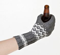 Glove and drink coozy all in one!  Great for campfire nights.