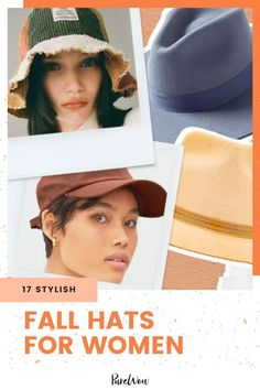 Hats are a stylish fall staple, and they're easy to pair with any ensemble. Here are our top 17 picks for the trendiest fall hats of the season. #hats #women #style Fall Hats For Women, Western Cowboy Hats, Fall Staples, Big Curls, Fashion Forecasting, Wool Berets, Black Baseball Cap, Brim Hat, City Chic