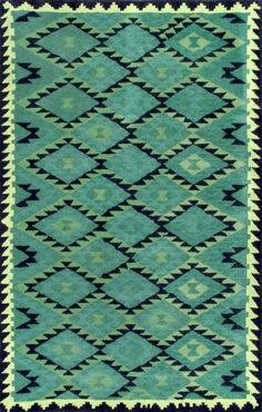 Kenyon Hand-Tufted Emerald Area Rug