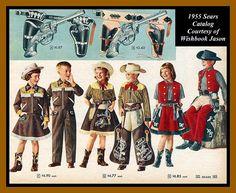 Botas de Sheriff/Cowboy com estrela de sheriff // 1955 Sears Catalog junior cowpoke attire