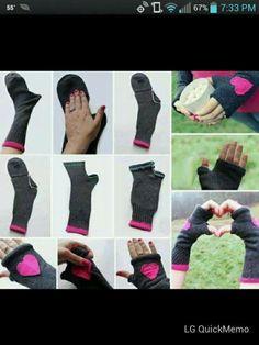 Hand warmers from socks