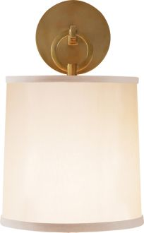 "Circa Lighting 'french cuff sconce' by Barbara Barry (14"" H x 8"" W; backplate 4-3/4"" round // keyless socket)"
