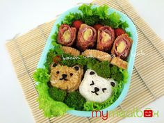 Bacon with cheese roll bento by mymealbox, via Flickr