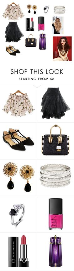 """""""Amberly"""" by madhura-datar on Polyvore featuring Accessorize, MCM, Dolce&Gabbana, Charlotte Russe, NARS Cosmetics, Marc Jacobs and David Jones"""