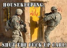 Military Pictures - Search our military gifs collection to salute our troops! Visit to search funny and cool military pictures, videos, memes and more - Keep Calm and Chive on! Funny Shit, Funny Memes, Hilarious, Funny Stuff, Military Jokes, Army Humor, Police Humor, Liberty Memes, Marines Funny