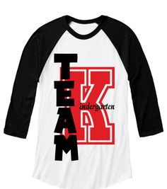 Team K Indergarten  White/Black  Long Sleeve T-Shirt Front