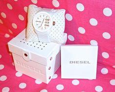 New Diesel White Gold Silicon Rubber Strap Unisex Watch Graduation Gift Set   eBay