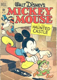 COMIC mickey mouse and the haunted castle #comic #cover #art