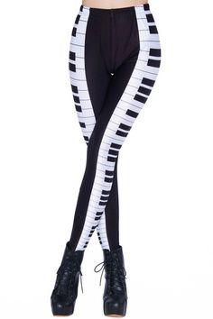 Piano Keys Leggings