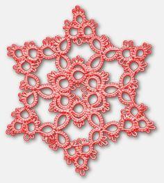 Loop de Loop Snowflake with free pdf pattern download : TATtle TALES Tatting Patterns - by Teri Dusenbury ... Loads more patterns at site ! ... *a*