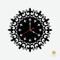 Wall Clock Price, Wall Clock Online, Record Crafts, Kitchen Wall Clocks, Kitchen Dining, Cute Clock, Clock Art, Wall Clock Design, Wood Clocks