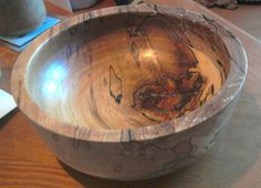 Spalted beech fruit bowl