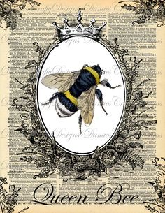 Queen Bee  Instant Wall Art Download  by DanaesCraftyDesigns, $3.00