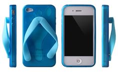 Don't know where to keep your iPhone while on the beach? Just store it under your flip-flops!
