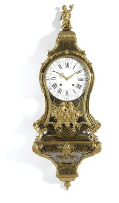 c1750 A Louis XV gilt-mounted turtleshell boulle bracket clock, French, circa 1750 Estimate     4,000 — 6,000  GBP 6,397 - 9,596USD  LOT SOLD. 6,875 GBP (10,995 USD) (Hammer Price with Buyer's Premium)