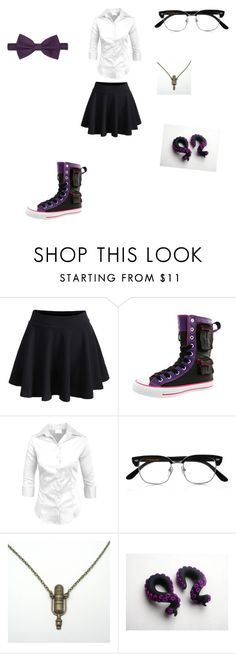 """Welcome to night vale"" by tristajeager ❤ liked on Polyvore featuring Converse, Cutler and Gross, Zara Taylor and Ferrecci"