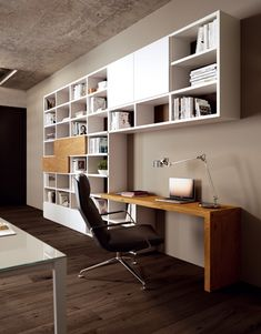 Home Library Design, Home Design Plans, Home Office Design, Living Room Wall Units, Living Room Designs, Modern Study Rooms, Ikea Kids Room, Classy Living Room, Muebles Living