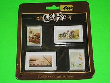 VINTAGE DOLLS HOUSE PICTURE SET MINT ON CARD BY CAROLINES HOME BARTON