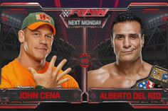 John Cena vs. Alberto Del Rio Announced For Next Week's WWE RAW