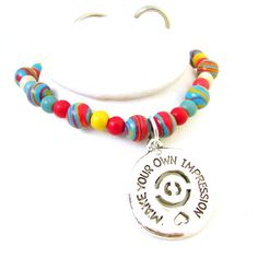 Charm Keychain Bracelet Make Your Own by EarthlieTreasures on Etsy