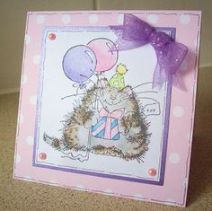 Penny Black Saturday Challenge: Challenge 15 - Cover Then decorate the Inside of your Card