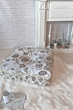Gabriela Fuente White garden Floor Pillow Square   DENY Designs Home Accessories