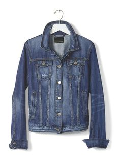 Distressed Denim Jacket Product Image