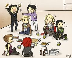 The Avengers and Loki