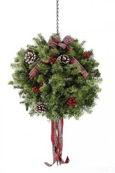 Best Price ,Cheap and Discount christmas kissing balls Enjoy for shopping and best save for your money Fresh Christmas Trees, Christmas Tree Farm, Outdoor Christmas, Christmas Balls, Rustic Christmas, Christmas Time, Christmas Crafts, Christmas Ornaments, Homemade Christmas