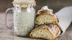 Making your own sourdough starter is as simple as combining water and flour and waiting for the naturally occurring yeast in the air to collect. Sourdough starter made with wild yeast results in flavorful loaves, and it's easy to make and maintain… Sourdough Recipes, Sourdough Bread, Bread Recipes, Baking Recipes, Bread Baking, Gluten, Tasty, Food, Appetizers