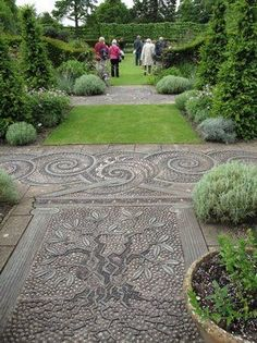 an amazing pebble pathway