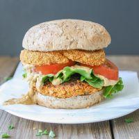 Buffalo Chickpea Burgers | Veggies Don't Bite