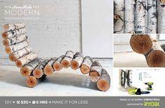 This Organic Birch Lounger | 29 Insanely Cool Backyard Furniture DIYs
