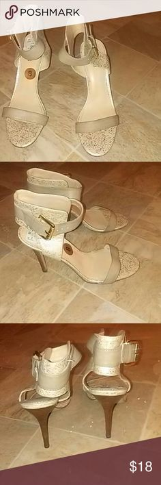 Gold GUESS HEEL Gold with strap and neduim heel Guess Shoes Heels