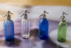 Miniature bottles by Teresa Martinez