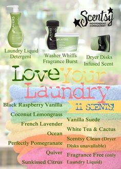 Scentsy Laundry Products! Shop & place an order at: http://ashleypaige.scentsy.us